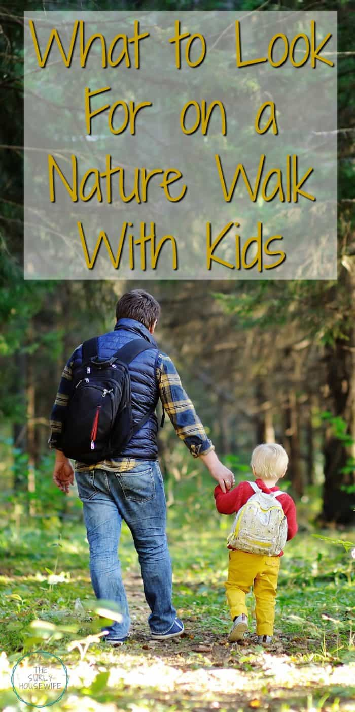 Going on a nature walk with kids is so much more than a walk in the woods. They are a life skill kids need to know, and it teach kids about self-reliance. | Things to Look for on a Nature Walk | nature hike | Fun ideas to keep dids busy on a nature walk so you won't have to hear