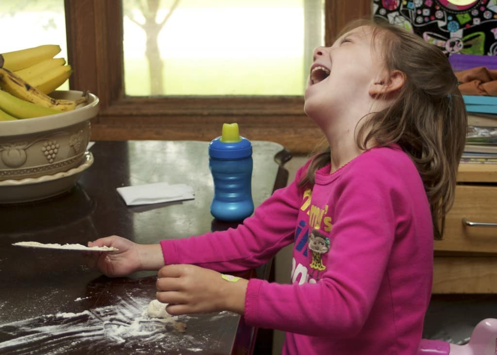 Baking bread preschool activity