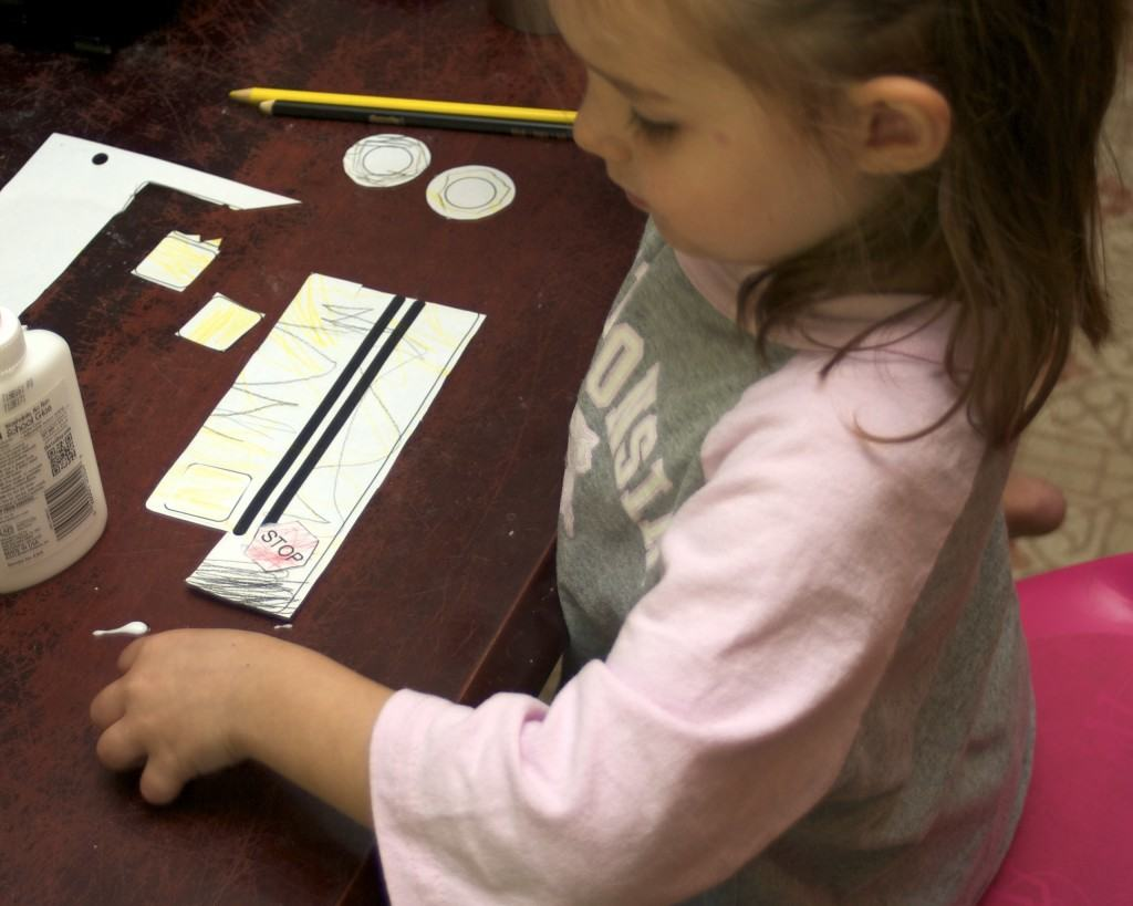 Bus craft for homeschool preschool