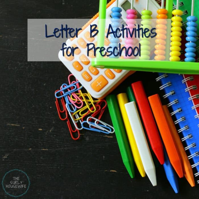 B is for bread, bus, and bear! Check out this post for Letter B activities for preschool and Letter B crafts for your homeschool preschool.
