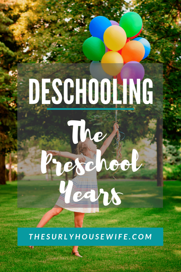 Homeschoolers who went to public or private school usually need to go through something called deschooling. But what about deschooling preschool?