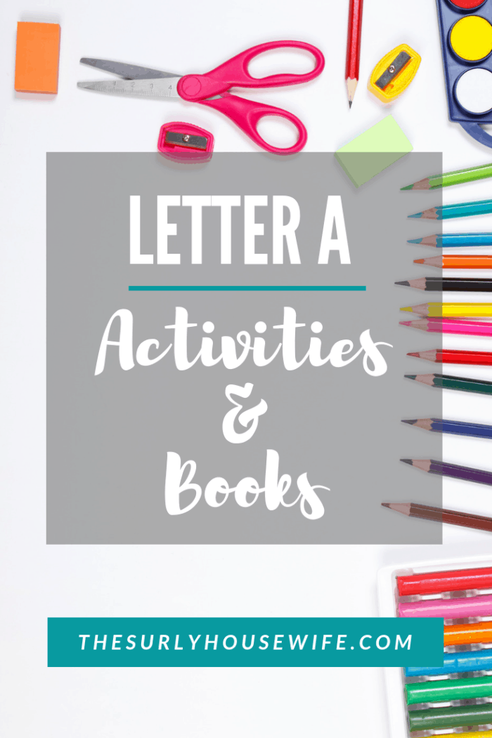 Looking to teach your preschooler the alphabet? Check out this post for letter A activities, books, crafts, and ideas for your homeschooler!