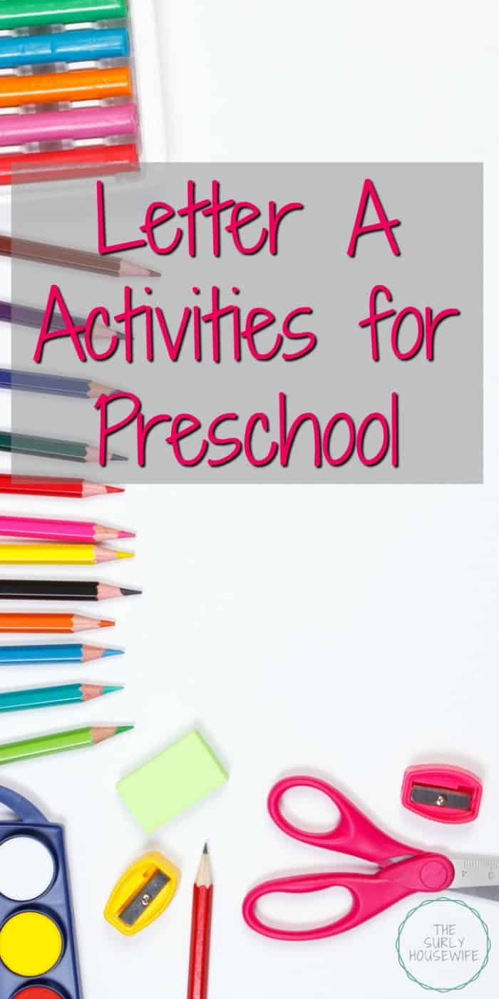 Letter of the week preschool activities and crafts are a fun and hands-on way for toddlers, preschoolers, and kindergartens to learn and practice the alphabet. A is for apple and airplane! Check out this post for Letter A activities and Letter A crafts for your homeschool preschool.