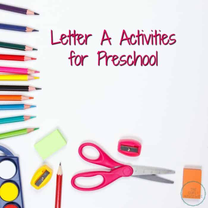 Letter of the week activities and crafts are a fun way for preschoolers to learn the alphabet. Check out this post for letter A activities for preschool!