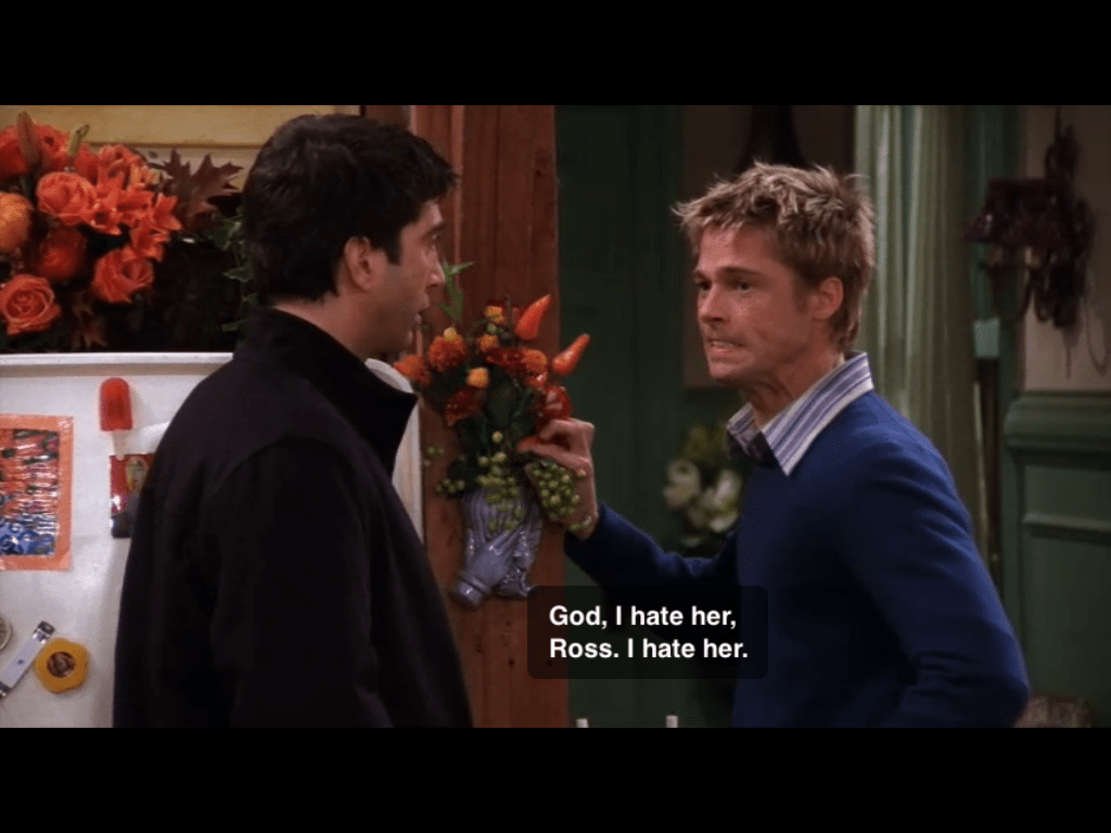 Brad Pitt on Friends hate Rachel