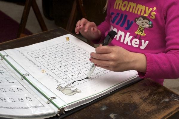 Letter E alphabet mazes