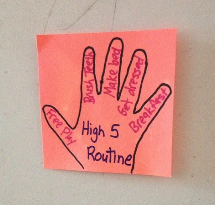 high five routine