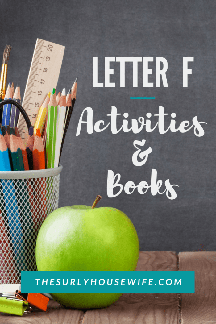 Check out this post for letter F activities and books you can use in your homeschool to help teach your preschooler the alphabet.