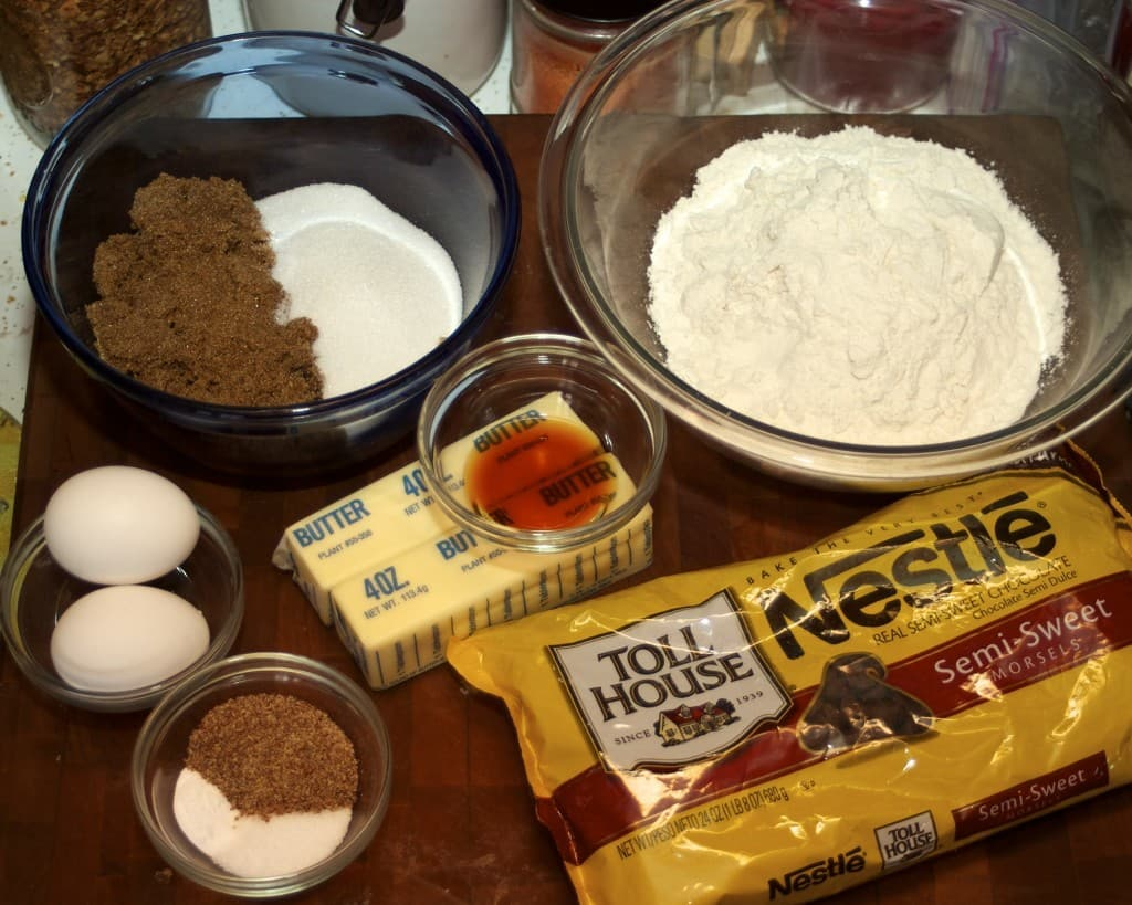 chocolate chip cookies ingredients