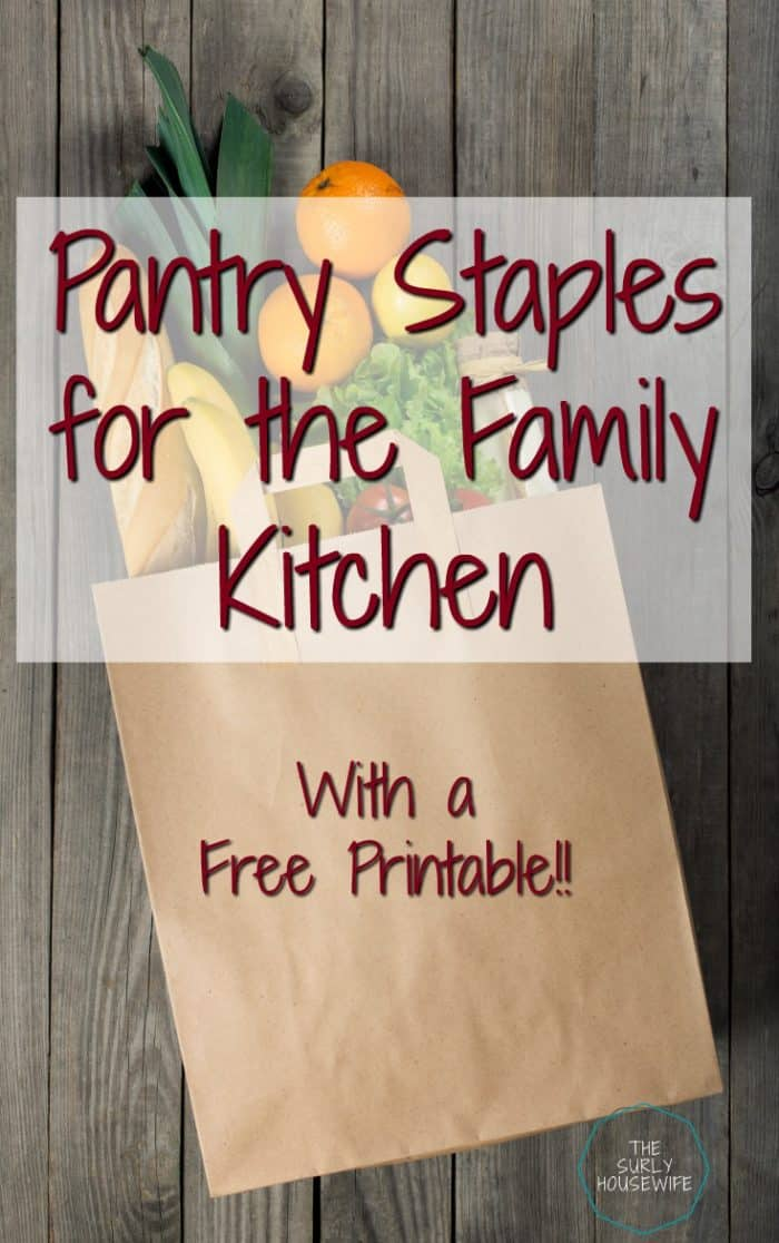 To help ease the pain of meal planning, keeping a well-stocked pantry is a must. For tips on how pantry essentials (plus a free printable!) Click here!!