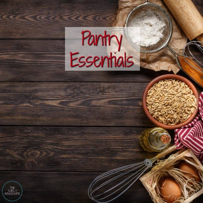 Meal planning on a budget is no easy task. To help ease the pain of meal planning, stocking your pantry is a must. For tips on what to put in your pantry (plus a free printable!) Click here!