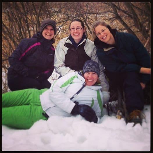 4 women best friends at Big Valley Ranch Avoca, WI