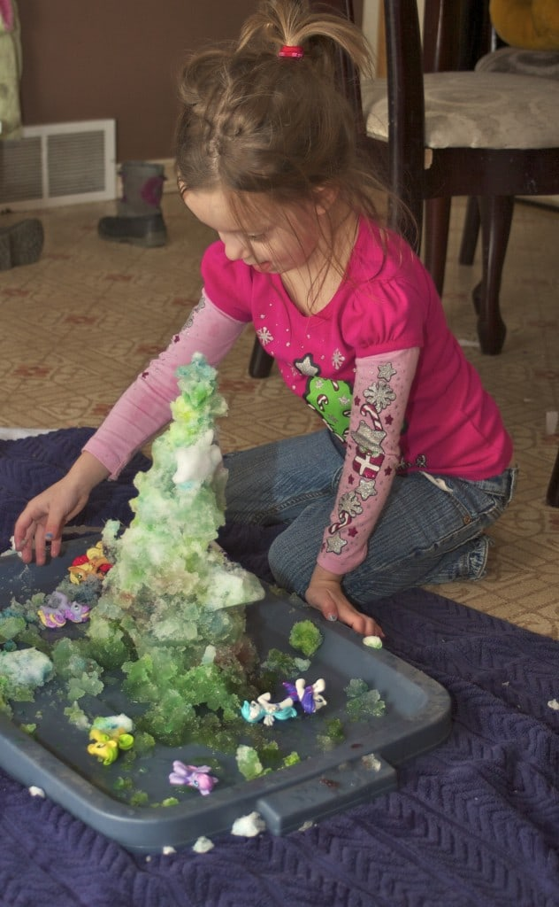 snow sensory play activity
