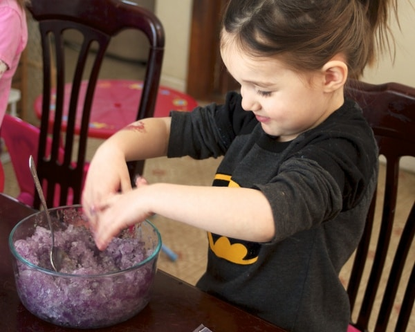 frozen jello sensory play