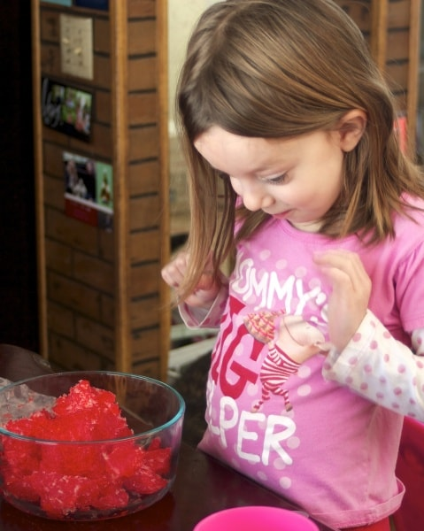 frozen jello sensory activity