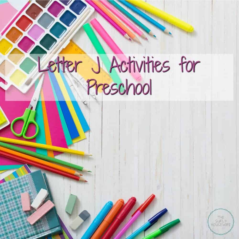 Letter J Activities for Preschool