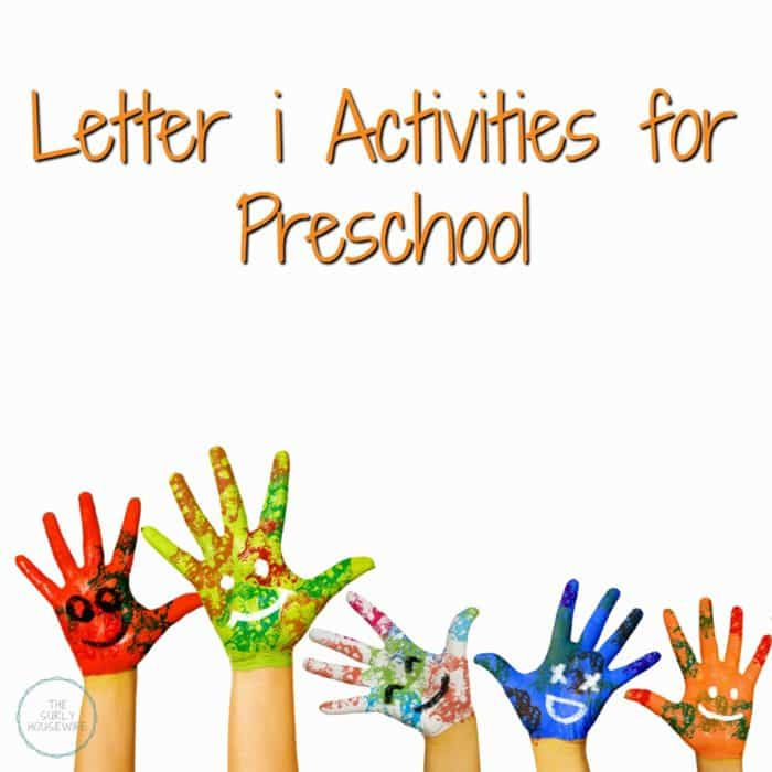 letter i activities for preschool title image