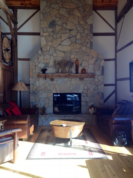 fireplace at Big Valley Ranch