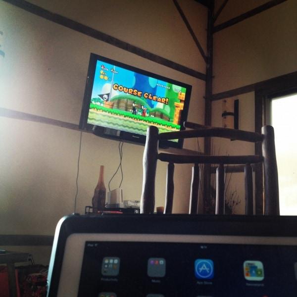 TV at the Big Valley Ranch Barnhouse