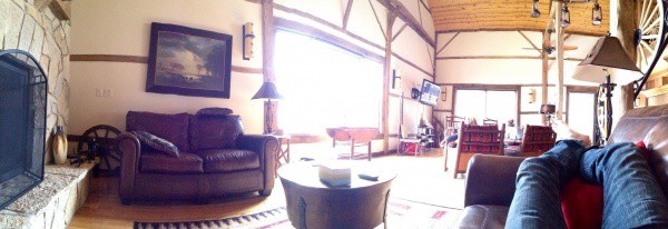 view of the living room from couch at BVR