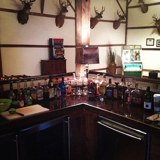 The view from behind the bar at Big Valley Ranch