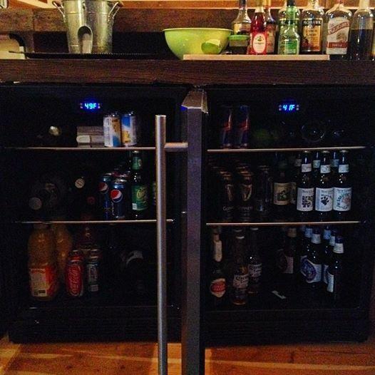 bar refrigerators at Big Valley Ranch