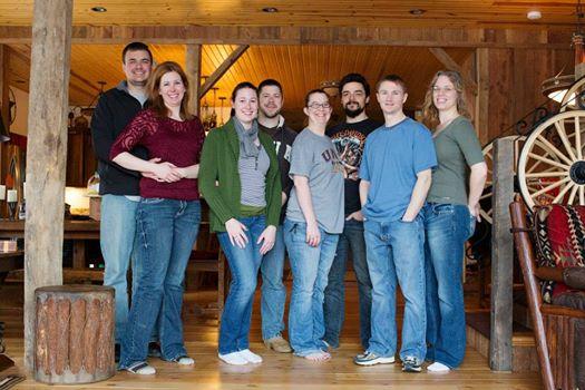 8 best friends at Big Valley Ranch Barnhouse