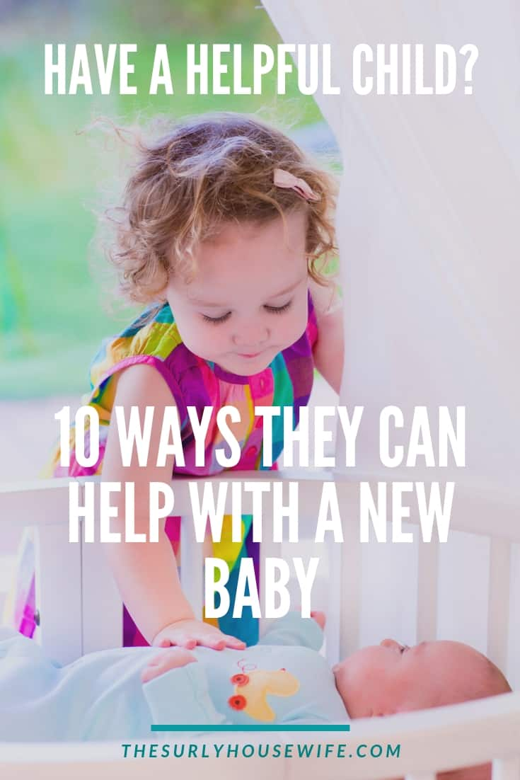 A newborn in the house is tough task, especially with older kids. Don't get overwhelmed. Click here for how kids can help with the new baby!