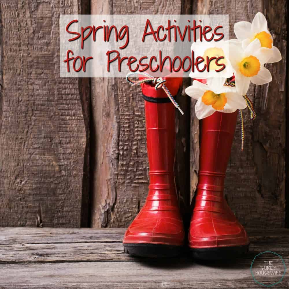Spring has sprung. Time to get rid of the winter blahs and get back outside. Click here for spring activities for preschoolers and homeschoolers alike!