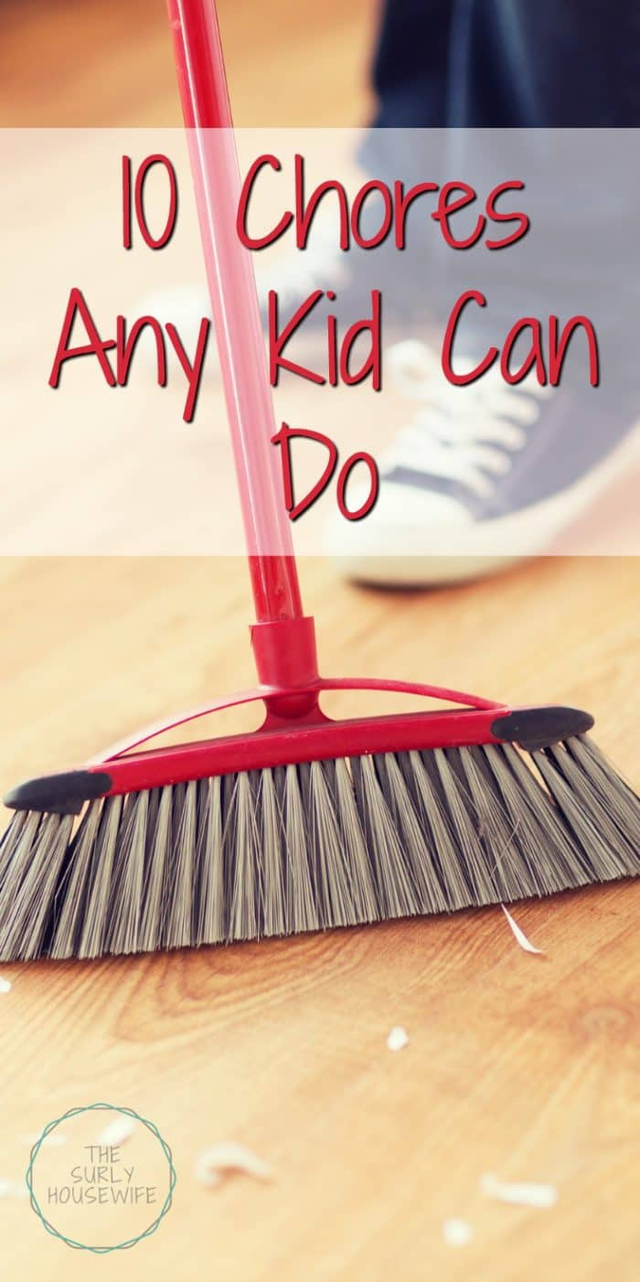 Want your kids to help around the house? Click on this post for 10 chore ideas for kids. They are so easy any kid can do them!Chore Ideas for Kids | Chores for kids |