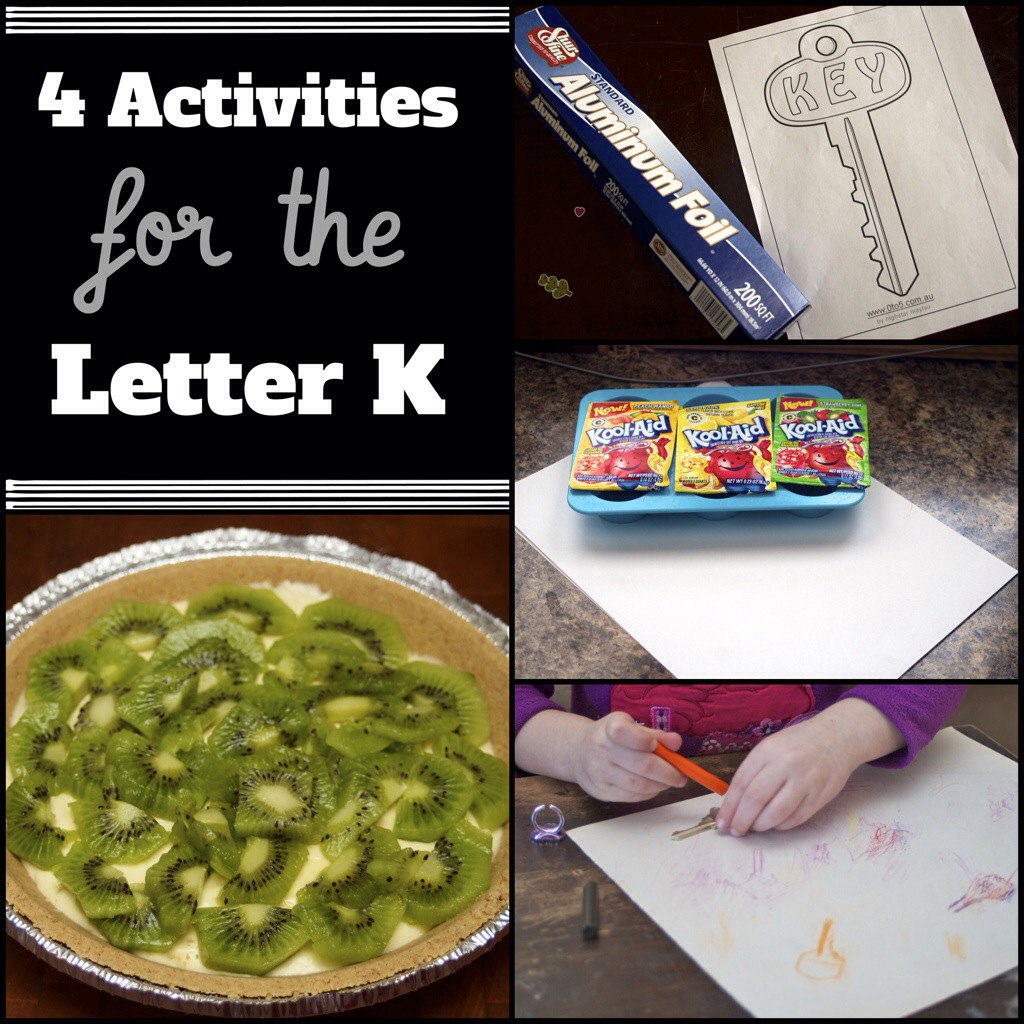 Need activities for the letter K? Check out this post for 4 simple letter K crafts and activities for preschoolers.
