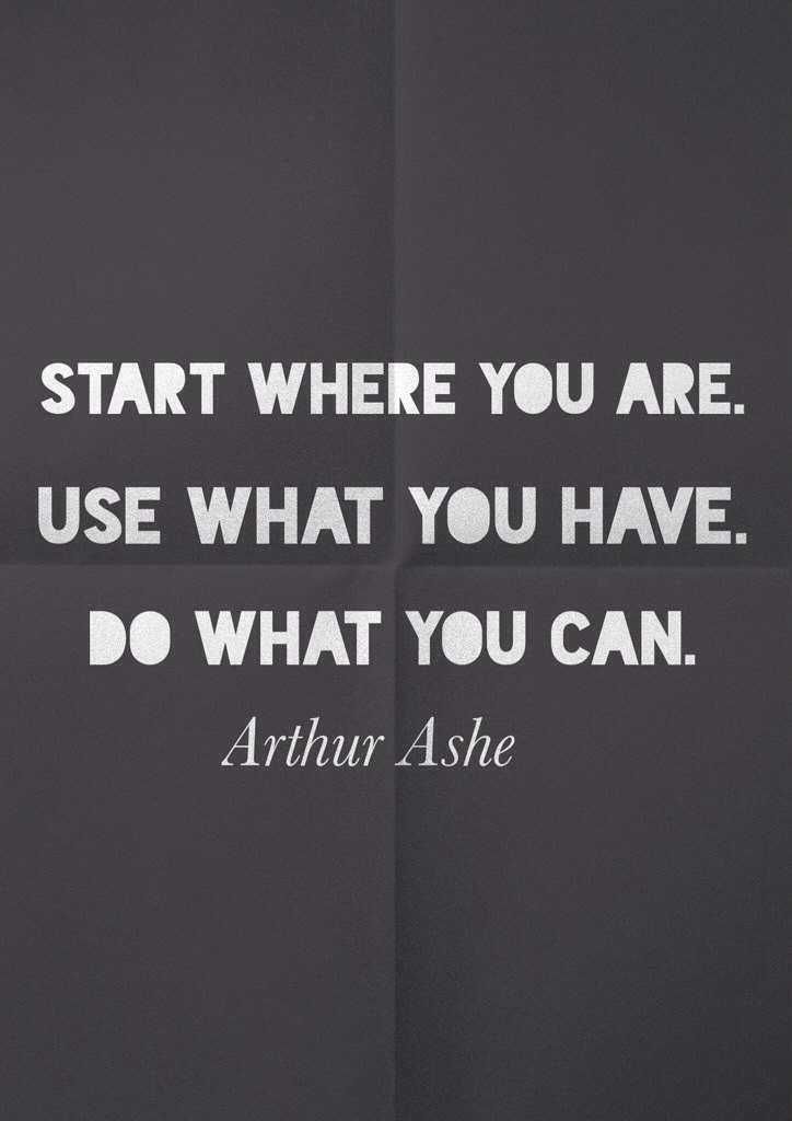 Arthur Ashe quote about life and perseverance.