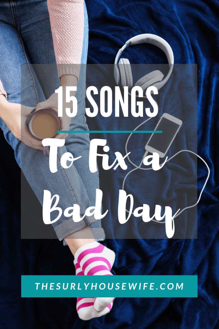 Everyone can have bad days. As a housewife and homeschooler, days can get hard. That is why I have a list of songs to relieve stress to help on bad days.
