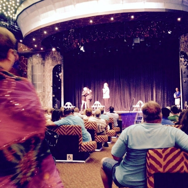 Marriage show aboard the Carnival Dream