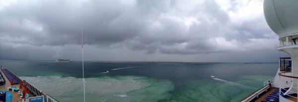 Tendering off coast of Belize City