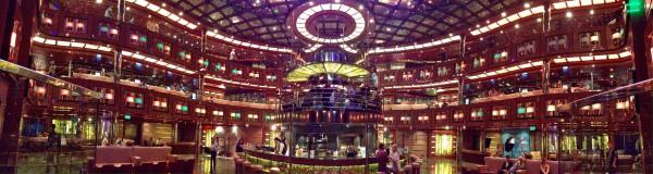 Atrium aboard the Carnival Dream
