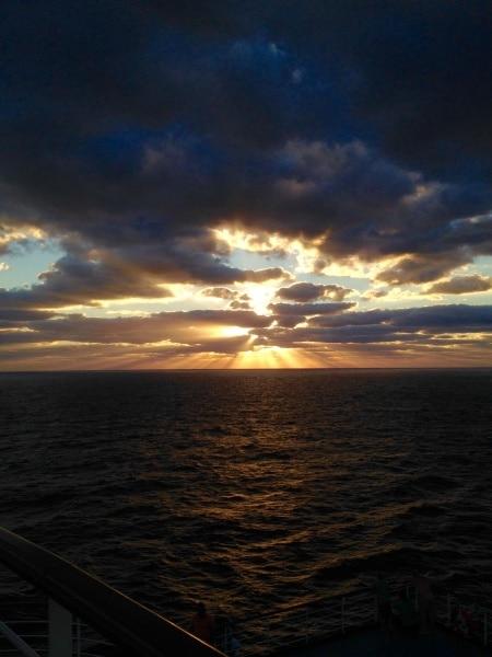 Sunrise aboard the Carnival Dream