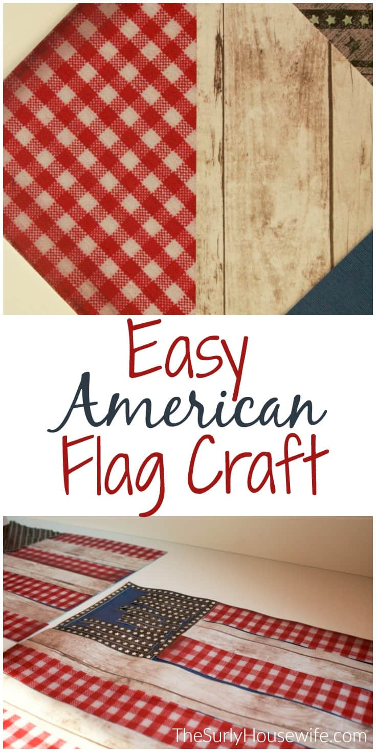 "data-pin-description=""Do you want to do American Flag craft for Veteran's Day for kids? Do you have a ton of scrapbook paper? Then check out this post for an easy DIY scrapbook paper craft project the kids will love!"""