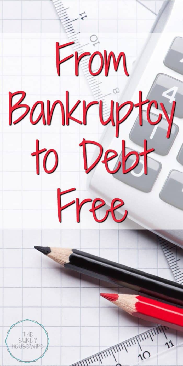 We were once broke. Now we have the goal of being debt free. How we took control of our finances and are going from bankruptcy to debt free!