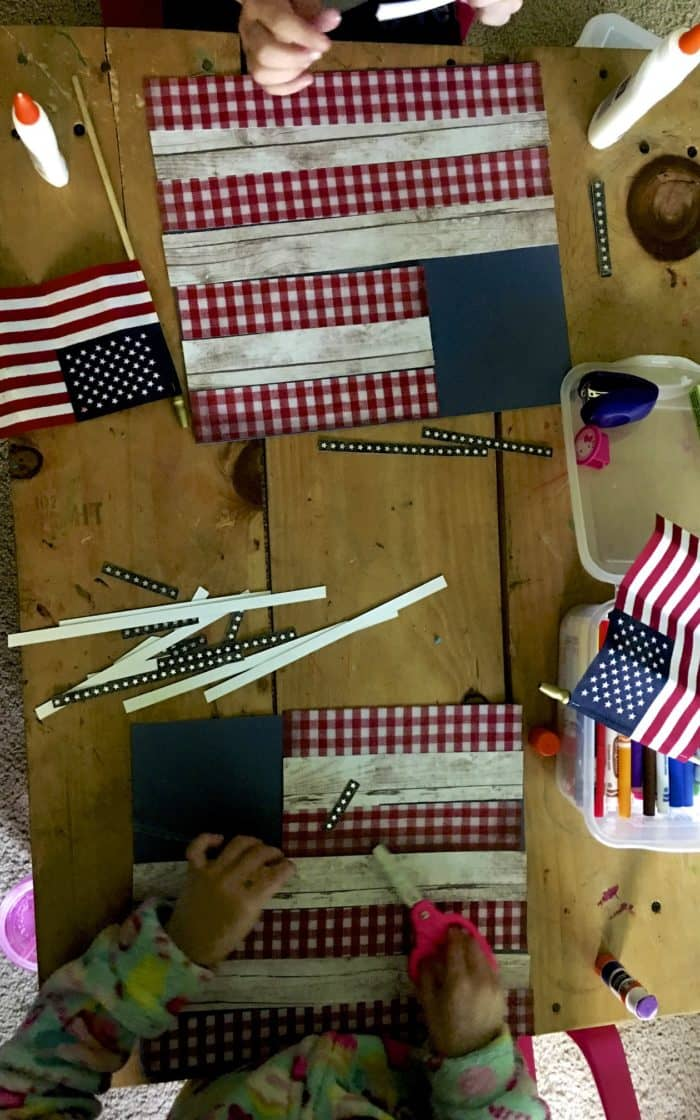 American Flag Paper Craft