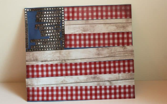 Finished American Flag Paper Craft