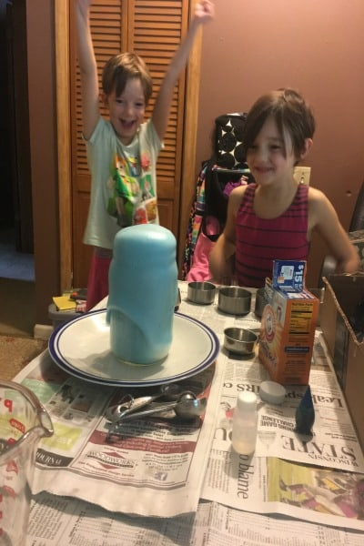volcano experiment at home