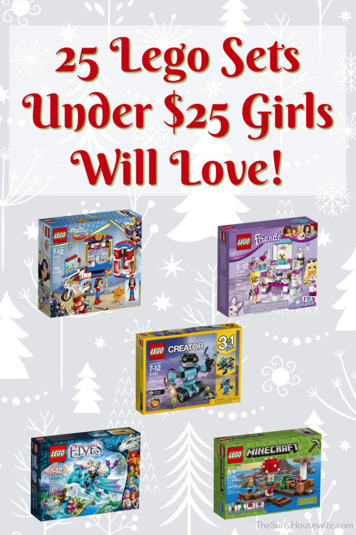 Make your Christmas easy (and cheap) this year by shopping on Amazon! Check out these Christmas gift ideas for kids. Legos make the perfect inexpensive Christmas gift for kids of all ages, including girls! Check out this holiday gift guide for 25 Lego Sets for girls. All under $25! #Christmas #ChristmasGifts #GiftGuide #Lego #Amazon