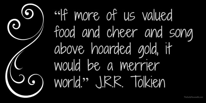 JRR Tolkien quote from The Hobbit