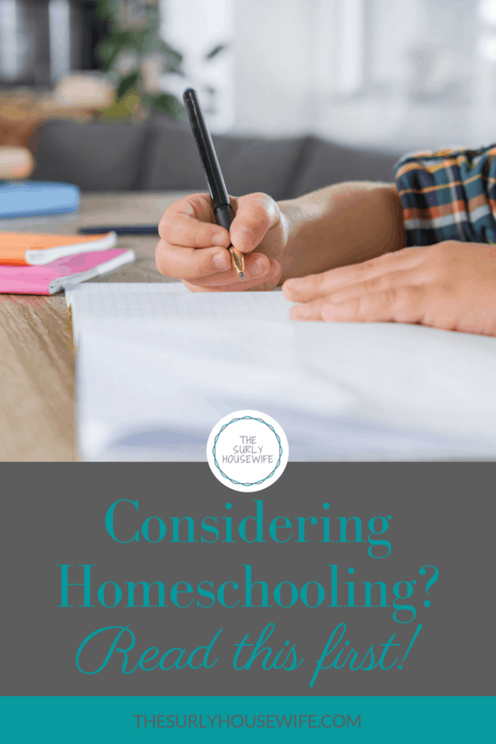 "Have your found yourself asking, ""Should I homeschool my kids?"" Check out this post for homeschool advice and considerations."