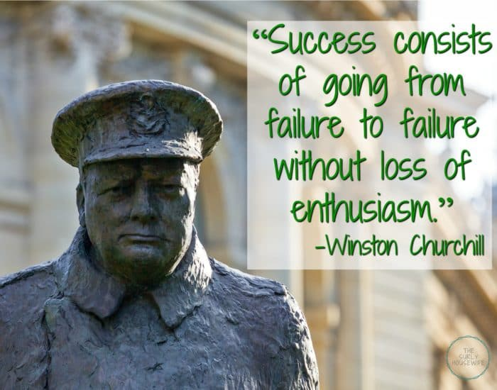 Churchill Quote about Success