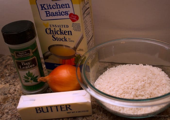 Butter Rice Ingredients
