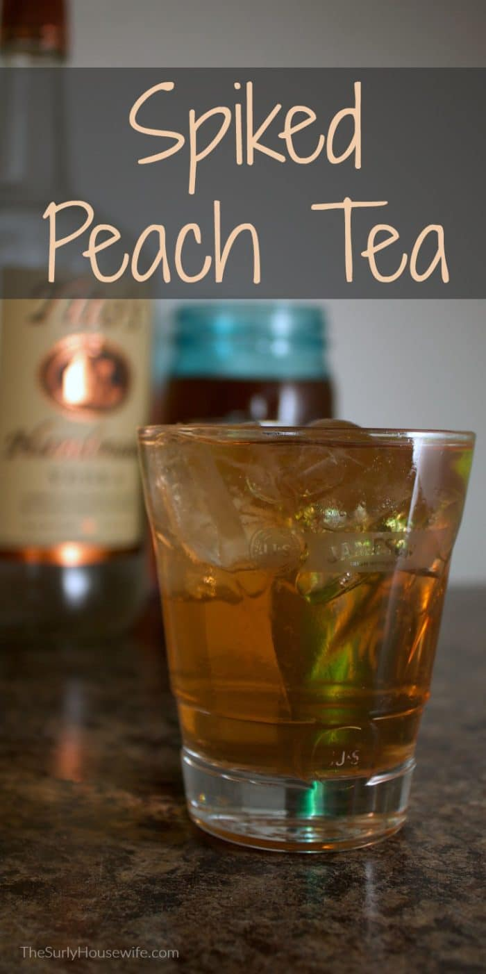 Spiked peach tea with vodka is the perfect summer drink. As an added bonus, this recipe tastes like peach cobbler. Click here for the recipe!