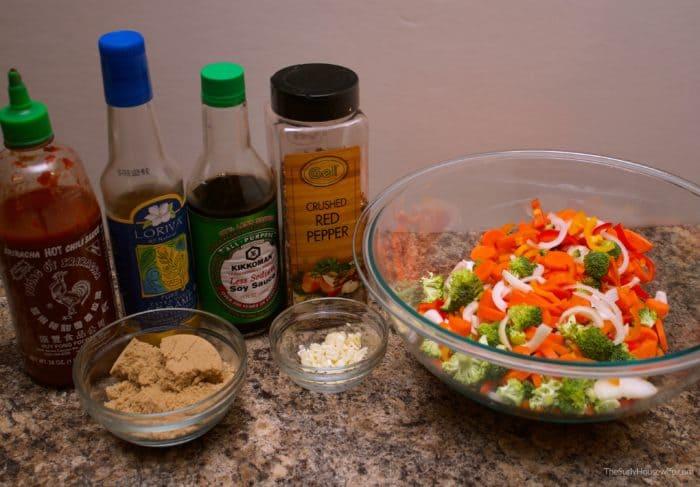 Veggie Stir Fry ingredients