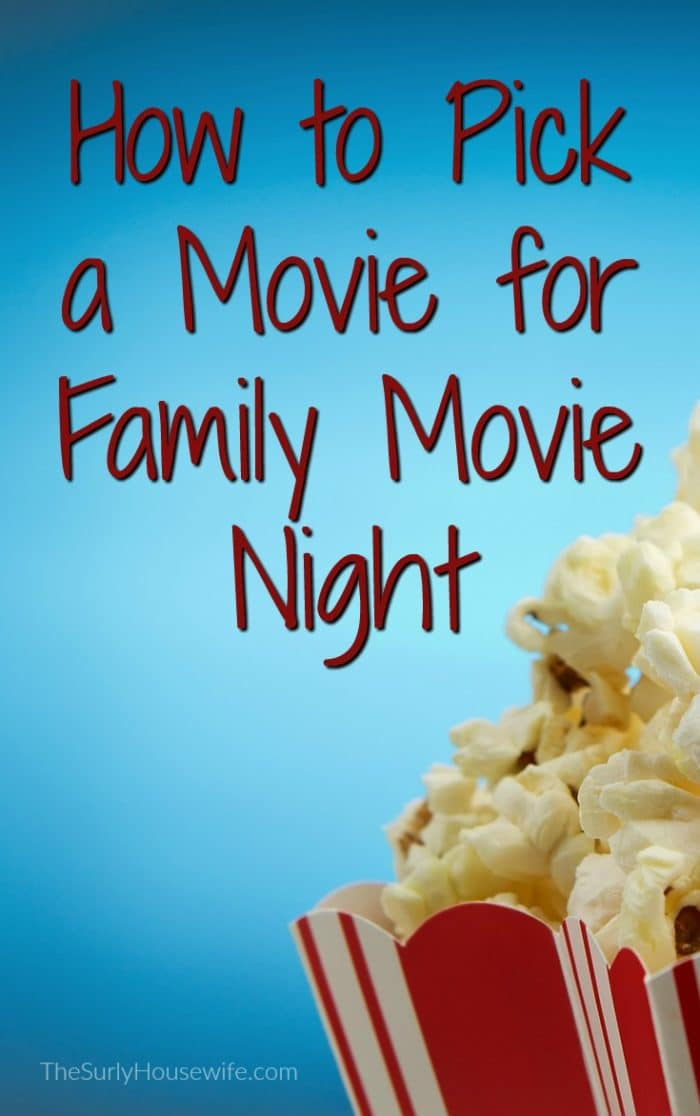 Need help finding the perfect movie for family movie night? Need an age appropriate movie? Click here for tips on choosing a movie for family movie night!
